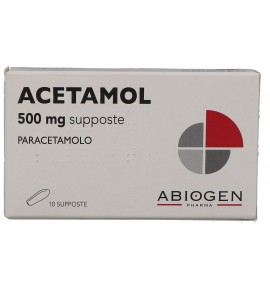 ACETAMOL 10SUPP 500MG